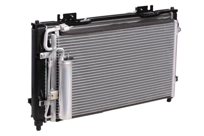 Блок охлаждения (радиатор+конденсер+вентилятор) для автомобилей Приора Halla LUZAR фото