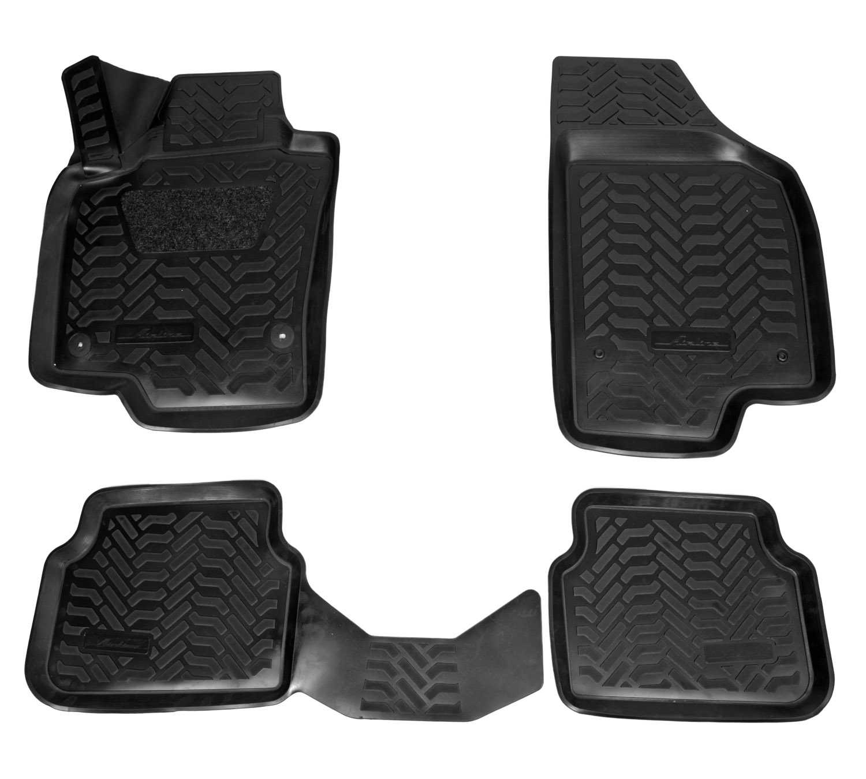 Ковры (3D с подпят.) для VW Tiguan (07-16) 4 шт., (крепеж), выс.борт, полимер., черн. AIRLINE фото