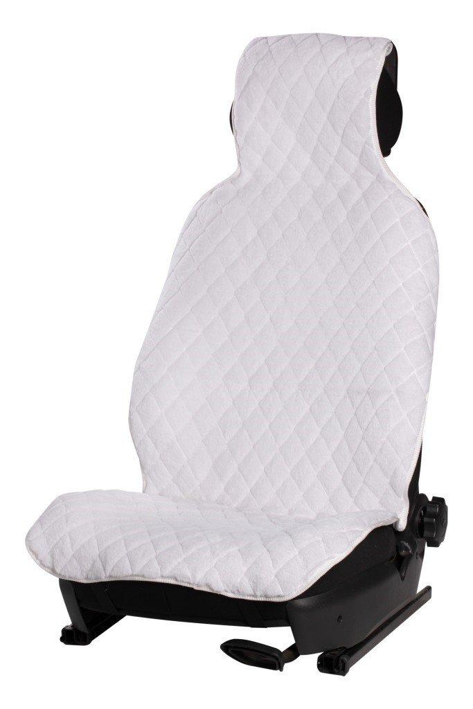 Накидка из искусственного меха, белая с коротким ворсом, на переднее сиденье, 1 шт. AIRLINE фото