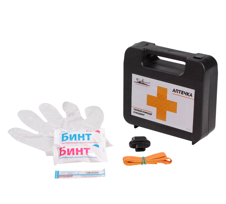 Аптечка первой помощи в машину, пласт. футляр AIRLINE фото