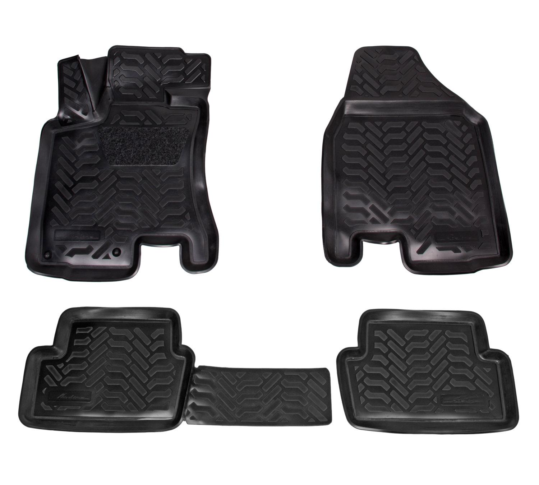 Ковры (3D с подпят.) для Nissan Qashqai (07-14) 4 шт., выс.борт, полимер., черн. AIRLINE фото
