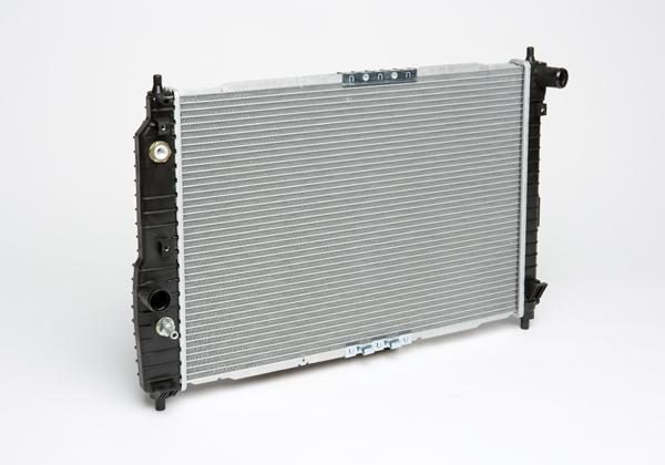 Радиатор охлаждения Aveo (05-) AT A/C+ LUZAR фото