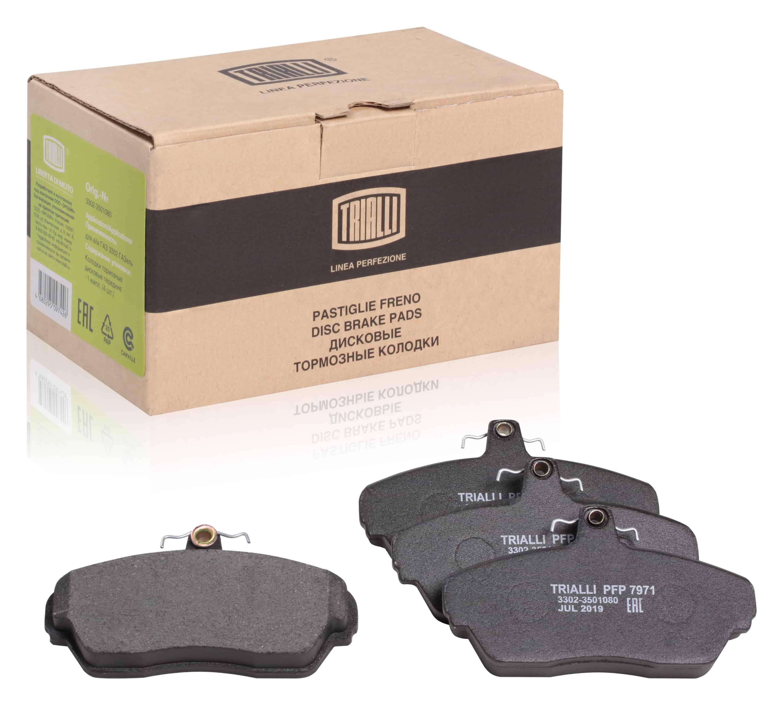 Колодки торм. диск. пер. для автомобилей ГАЗ 3302 ГАЗель Linea Perfezione TRIALLI фото