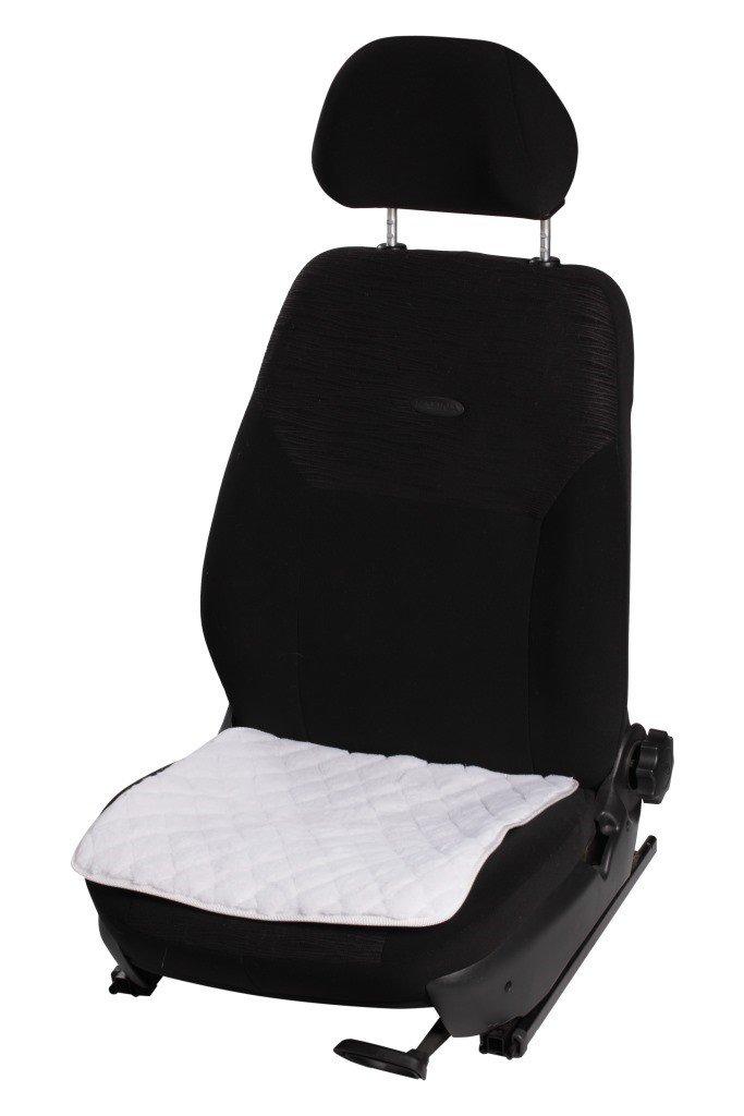 Накидка (подушка) из искусственного меха на сиденье, белая с коротким ворсом, 1 шт. AIRLINE фото