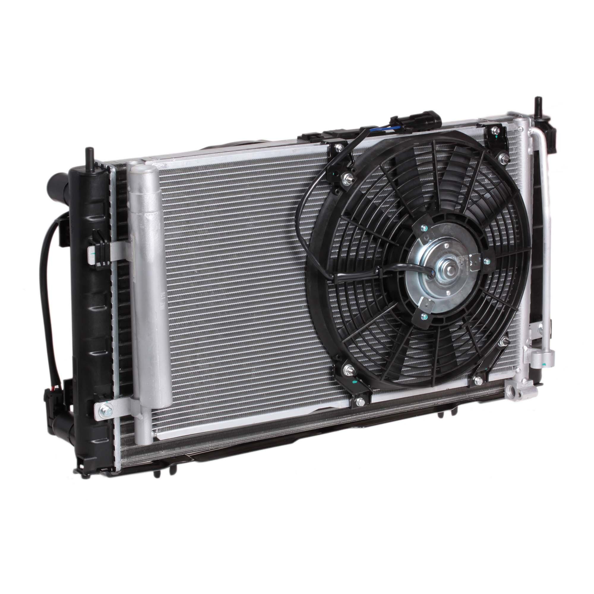Блок охлаждения (радиатор+конденсер+вентилятор) для автомобилей Приора (тип Panasonic) LUZAR фото